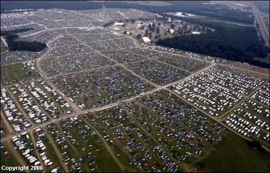 Bonnaroo 2006 aerial view