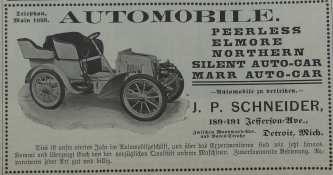 Schneider's auto sales, circa 1903