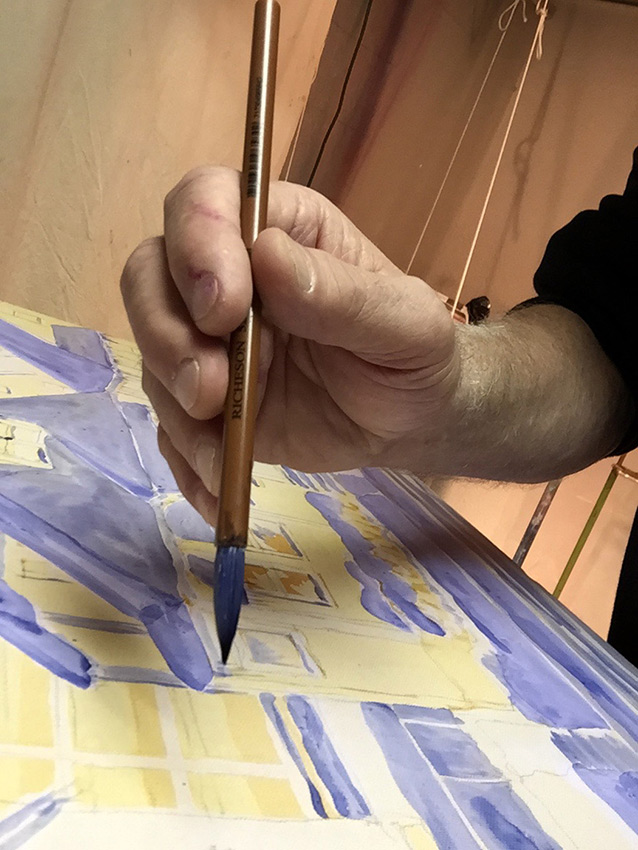 micropointillism and micropointillist painting demonstrated